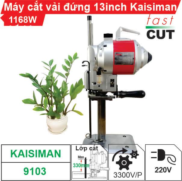 Máy cắt vải đứng 13 inch Kaisiman 1168W KSM-9103 chất lượng, giá rẻ