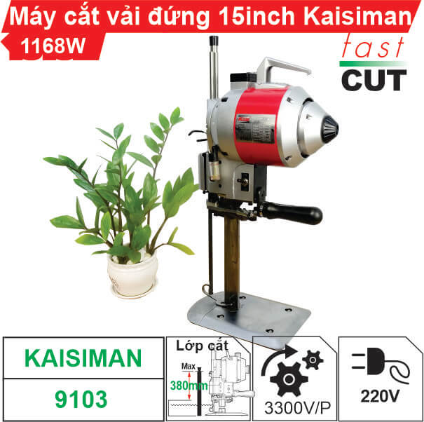 Máy cắt vải đứng 15 inch Kaisiman 1168W KSM-9103 chính hãng, giá rẻ