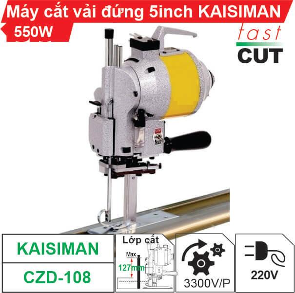 Máy cắt vải đứng Kaisiman CZD-108 5 inch (550W) chính hãng