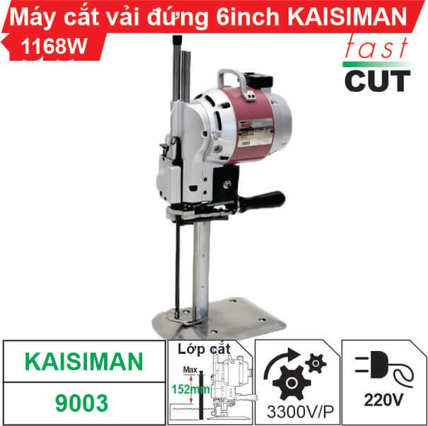 Máy cắt vải đứng Kaisiman 6 inch KSM-9003 1168W chất lượng, giá rẻ