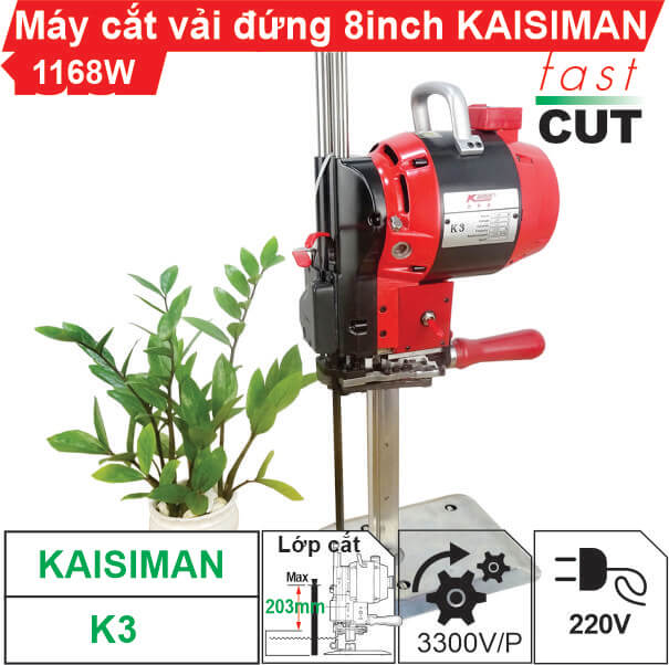 Máy cắt vải đứng Kaisiman 8 inch K3 chất lượng,  giá rẻ