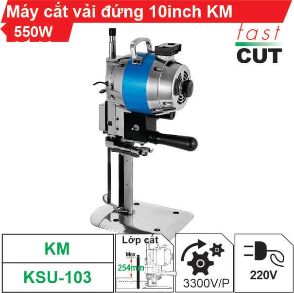 Máy cắt vải đứng KM KSU-103 10 inch (550W) giá tốt nhất