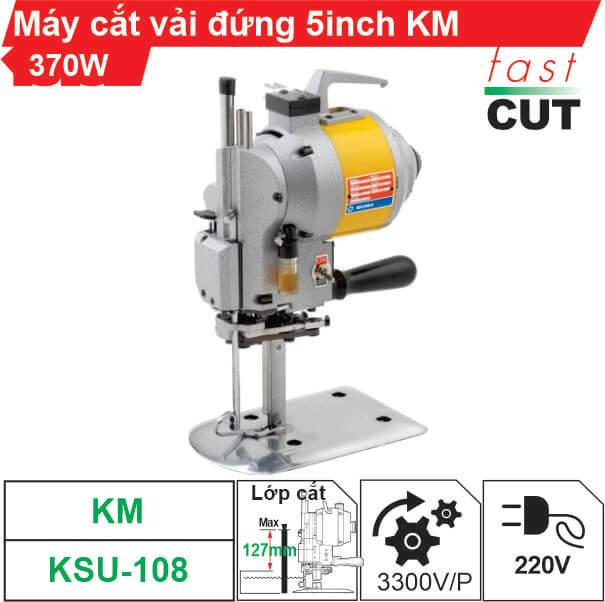 Máy cắt vải đứng KM KSU-108 5 inch 370W giá tốt nhất
