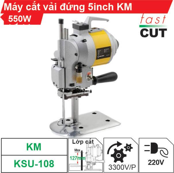 Máy cắt vải đứng KM KSU-108 5 inch 550W chính hãng, giá tốt