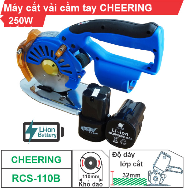 Máy cắt vải cầm tay Cheering RCS-110B (dùng pin) cao cấp, giá rẻ