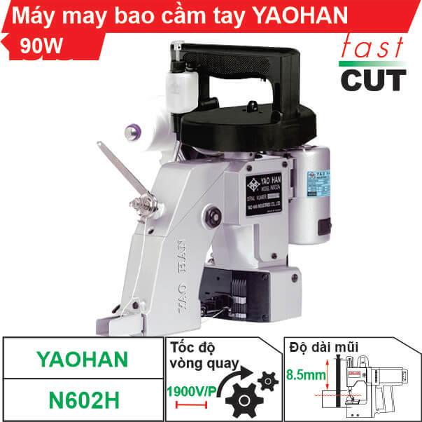 Máy may bao cầm tay Yaohan N602H 1 kim 2 chỉ chính hãng 100%