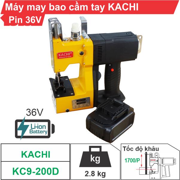 Máy may bao cầm tay Kachi KC9-200D (dùng pin) chất lượng, giá rẻ