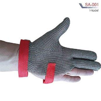 Bao tay sắt 3 ngón bảo vệ an toàn khi sử dụng máy cắt vải