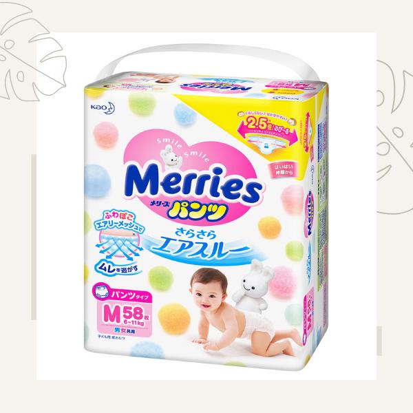 Bỉm Merries cộng miếng nội địa Nhật
