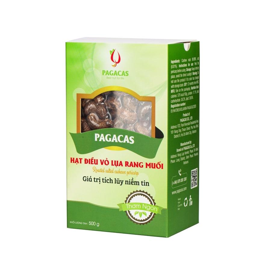Hạt điều rang muối vỏ lụa Pagacas - Hộp giấy 580g