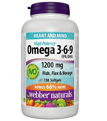 OMEGA 3-6-9 -SUPPORTS HEART HEALTH -WEBBER NATURALS