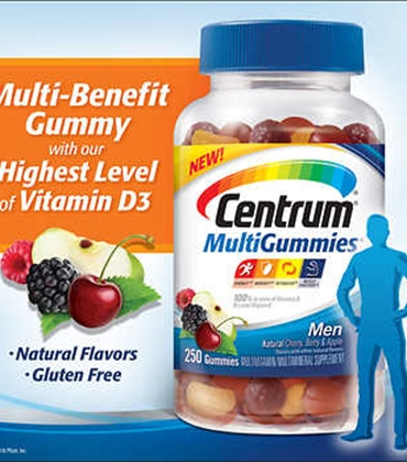 VITAMIN KẸO DẺO CENTRUM MULTIGUMMIES MEN - 130 VIÊN