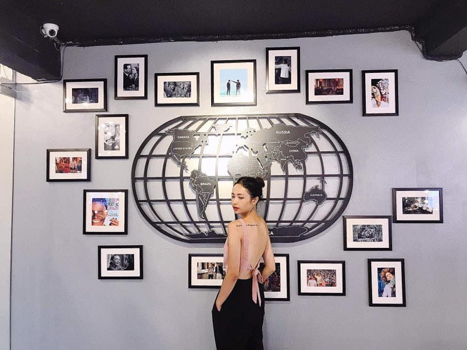 Bản đồ Thế giới sắt mỹ thuật, trang trí treo tường Quán Nhà ở, Căn hộ, Quán Cafe, Nhà hàng