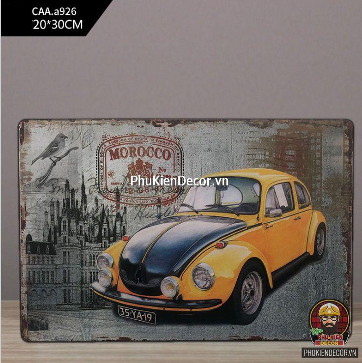 Bảng tranh thiếc Vintage, Retro kích thước 20x30cm - Trang trí decor Quán Cafe, Bia, Studio, Quán ăn, Nhà hàng
