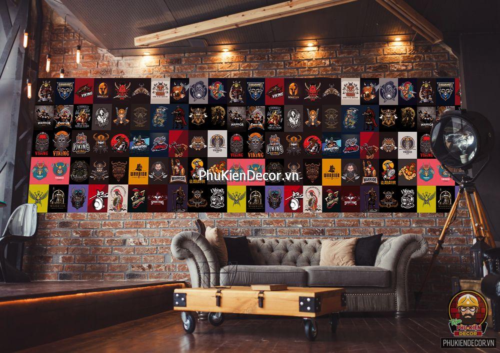 Decal dán tường, Stickers chủ đề Chiến binh WARIOR, trang trí Quán Ăn, Bar, Pub, Cafe, Bia, Trà sữa