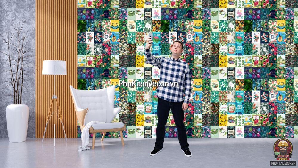 Decal dán tường, Stickers chủ đề NHIỆT ĐỚI TROPICAL, trang trí Quán Cafe, Bia, Trà sữa