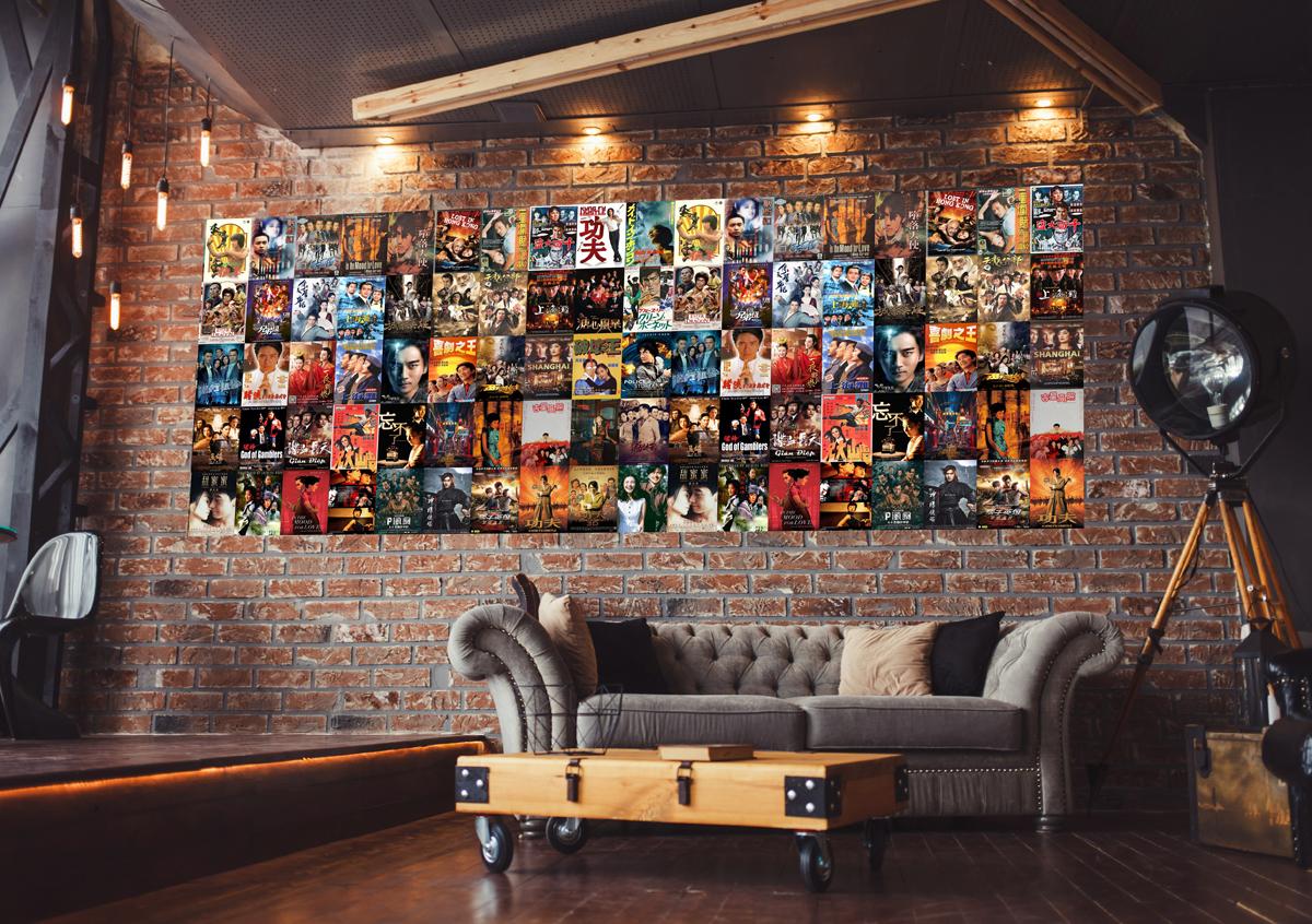 Decal dán tường, Stickers chủ đề HONG KONG, trang trí Quán Cafe, Bia, Quán Ăn vặt