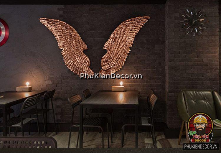 Đôi cánh Thiên Thần 3D treo tường đèn Led, chụp ảnh Checkin, Selfie - Trang trí quán Cafe, Trà sữa