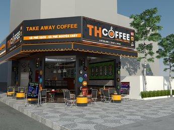 Mô hình mẫu thiết kế quán Cafe Beer góc 2 mặt tiền bắt mắt