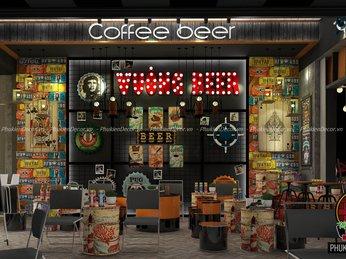 Mô hình thiết kế quán Cafe Beer đẹp cực Chất, cuốn hút giới Trẻ