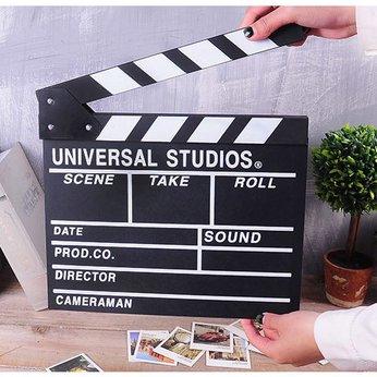 Bảng gỗ diễn Action quay phim Điện ảnh, trang trí (Clapper Board)
