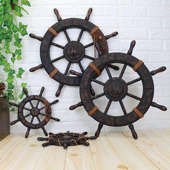 Bánh Lái Tàu Thủy thủ bằng Gỗ trang trí - màu Nâu cổ