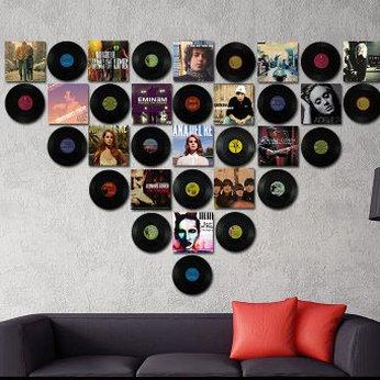 Đĩa than trang trí bằng nhựa - Phụ kiện decor trang trí Tường