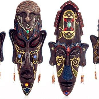 Mặt nạ Thổ Dân Châu Phi Hoa văn trang trí ,  trang trí Quán Cafe, Bia, Bar, Pub, Homestay