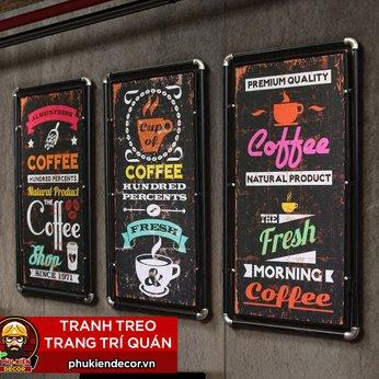 Tranh trang trí Quán Cafe Beer- Tranh gỗ ống thép treo tường  trang trí quán Beer