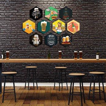 Tranh Formex 3D Chủ đề Beer Dán Tường Theo Phong Cách Đơn Giản Độc Lạ - Chuyên Dùng Để Trang Trí Mô Hình Quán Bia, Cafe, Quán Ăn, Quán Nhậu .