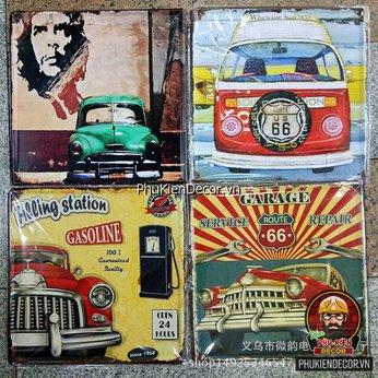 Tranh thiếc trang trí quán Cafe, Beer, Trà sữa - Tranh thiếc trang trí Vintage, Retro 30x30cm