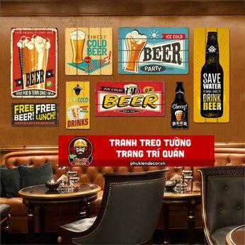 Tranh treo tuờng trang trí quán Beer, Cafe Beer
