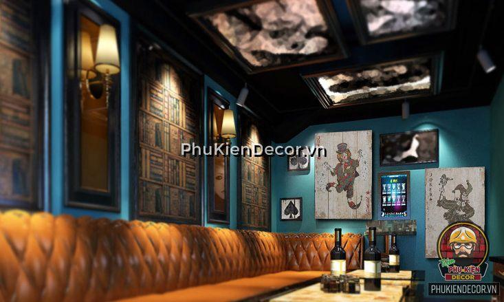 Tranh Lá Bài Gỗ treo tường - Trang trí quán Cafe, Beer, Căn hộ