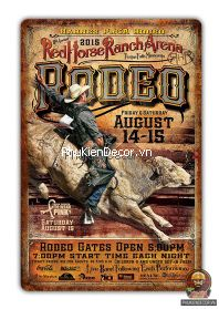 Tranh thiếc Cao Bồi viễn Tây - Tranh Cowboy sắt trang trí Quán Cafe, Beer, Tiệm Rượu, Bistro, Bar, Pub