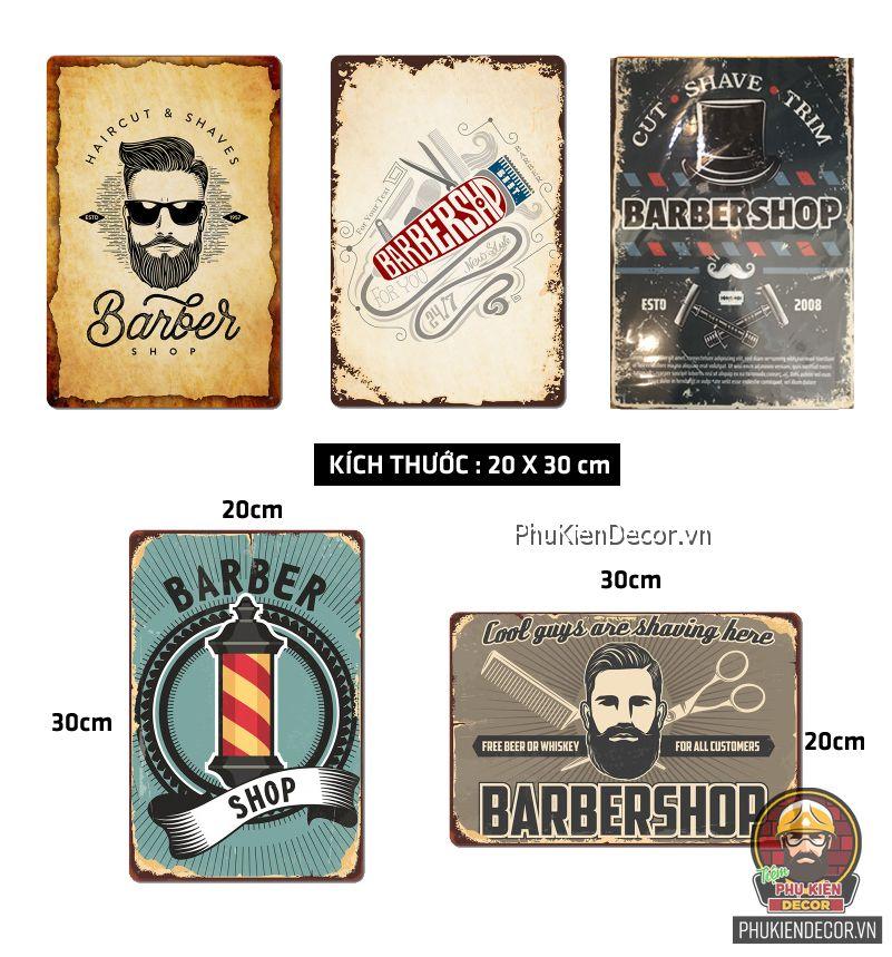 Tranh thiếc chủ đề Barber Shop - trang trí decor Tiệm tóc Nam Nữ, Salon Tóc cực Chất