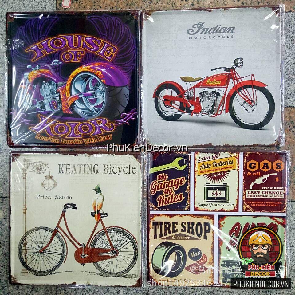 Tranh thiếc trang trí quán Cafe, Beer, Trà sữa - Tranh thiếc trang trí Vintage, Retro