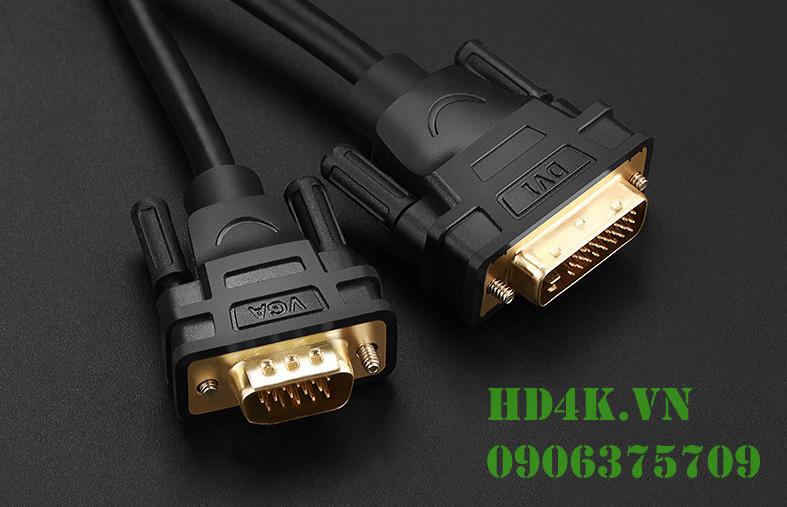 Cáp chuyển DVI (24+1) to VGA dài 1.5m Ugreen 30838