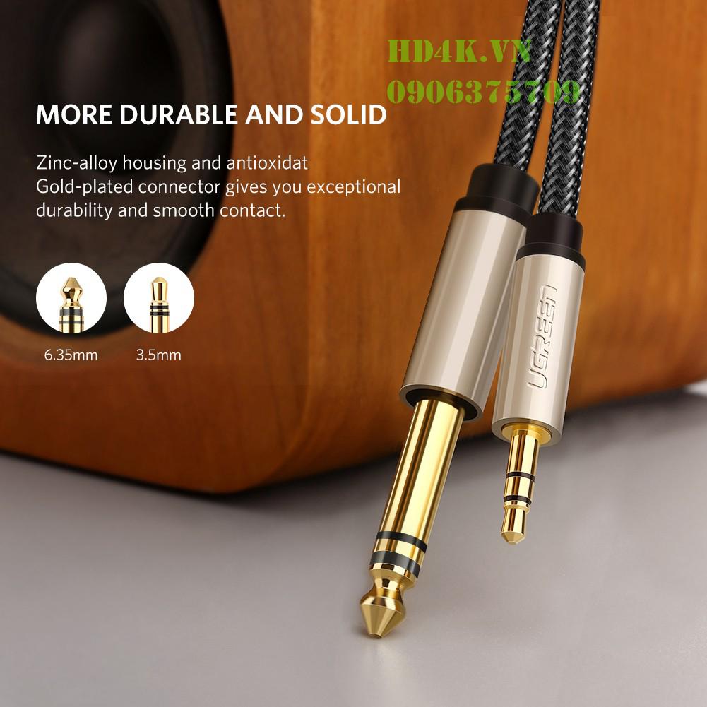Cáp âm thanh 3.5mm to 6.5mm dài 1.5m Ugreen 40803