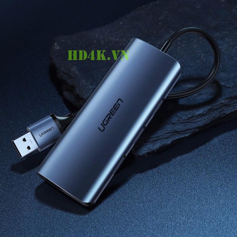 Bộ chia USB 3.0 ra 3 cổng USB 3.0 + Lan  1000Mbps Ugreen 60719