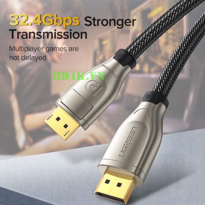Cáp Displayport 1.4 dài 3m  4K*2K 60Hz Ugreen 60844