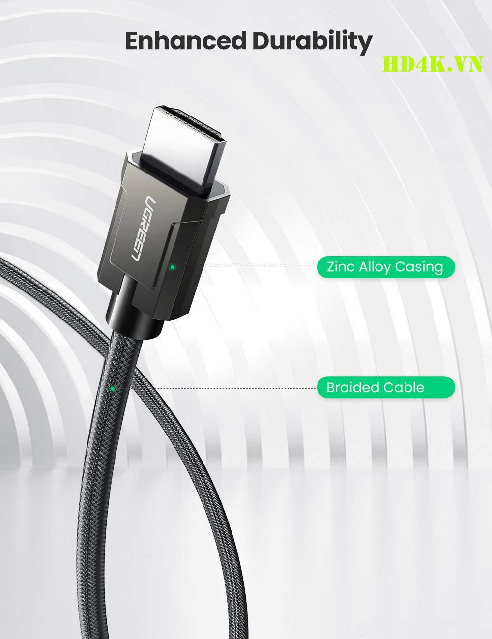 Cáp HDMI 2.1 dài 2m chuẩn 8K@60MHz Ugreen 70321
