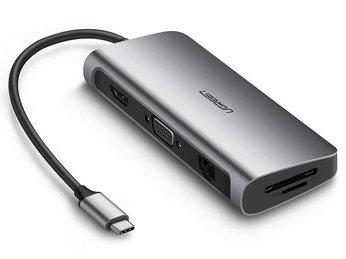 HUB đa năng Type C to HDMI/VGA + Hub USB 3.0, Lan, TF/SF Ugreen
