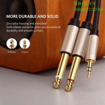 Cáp âm thanh 3.5mm to 6.5mm dài 5m Ugreen 40794