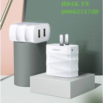 Củ sạc nhanh Dual USB 3.1A + 2.4A Ugreen 50955