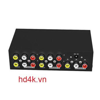 Bộ chia AV 1 ra 4 Mt-Viki MT-104AV