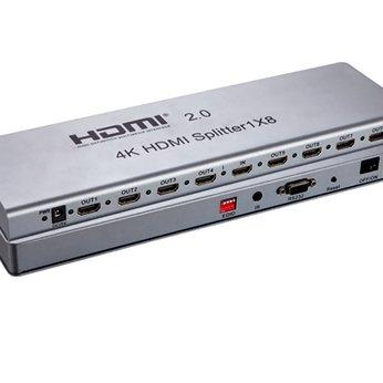 Bộ chia HDMI 1 ra 8 chuẩn 2.0, 4K 60Hz EDID SHENG HDSP08
