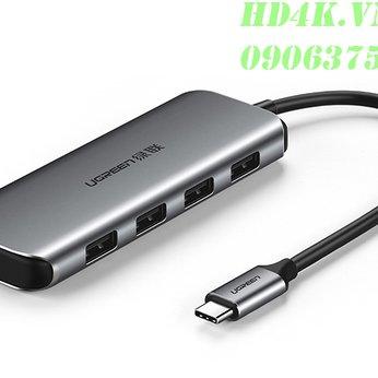 Bộ chia USB Type C ra 4 cổng USB 3.0 hỗ trợ cổng USB-C cấp nguồn Ugreen 50980