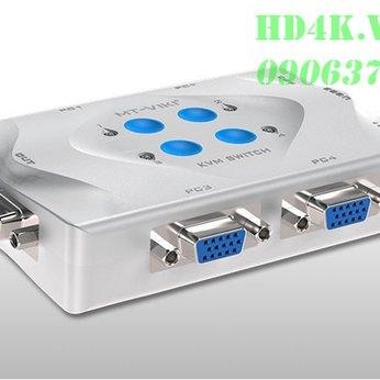 Bộ chia VGA 4 ra 1 có KVM MT-VIKI MT-401UK-L