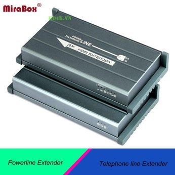 Bộ kết nối HDMI 300m qua đường cáp điện và cáp điện thoại Mirabox