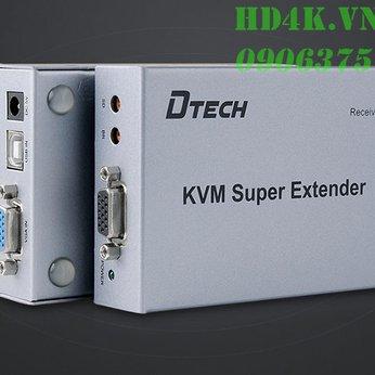 Bộ khuếch đại VGA qua Lan  100m có KVM DTECH DT-7044